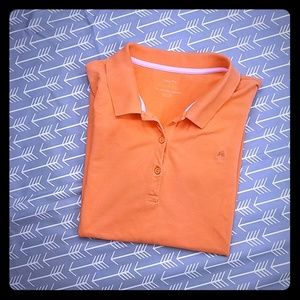 Lilly Pulitzer chic fit tangerine polo shirt top
